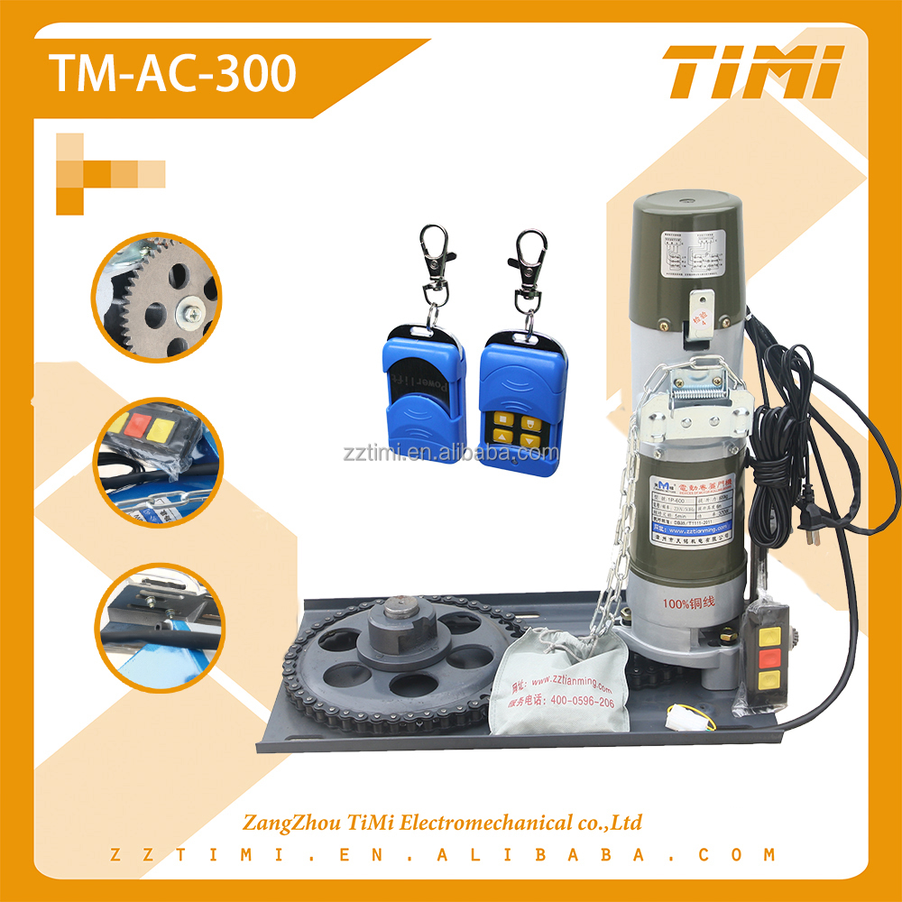 AC electric motor for door opener