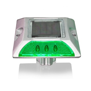 green LED cat eye 3M reflector solar powered road marker
