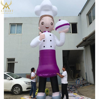 customizable inflatable cartoon cook mascot for outdoor event props decoration