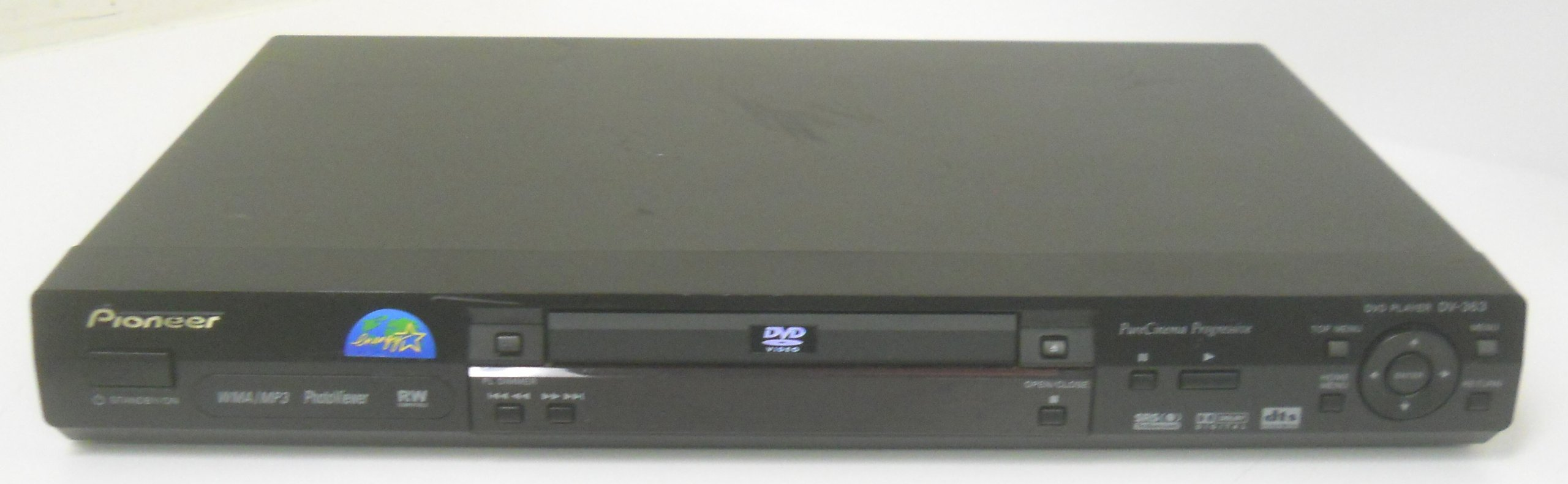 Pioneer DV-363 DV363K DVD Player Digital Video Disc CD Player MP3 RW Compatible