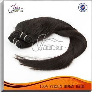 Guangzhou silky straight virgin brazilian remy hair relaxed kinky straight hair weaving