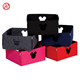 Colorful felt storage box sundries basket with hollow pattern and zipper for table