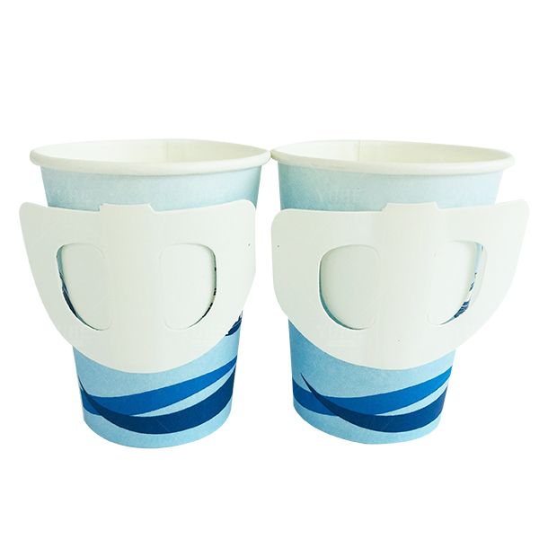 Cheap price tea hot drinks 4oz coffee paper cup with handle