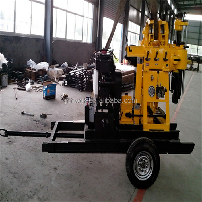 HW-160 model trailer mounted water well drilling rig/ mobile drilling rig