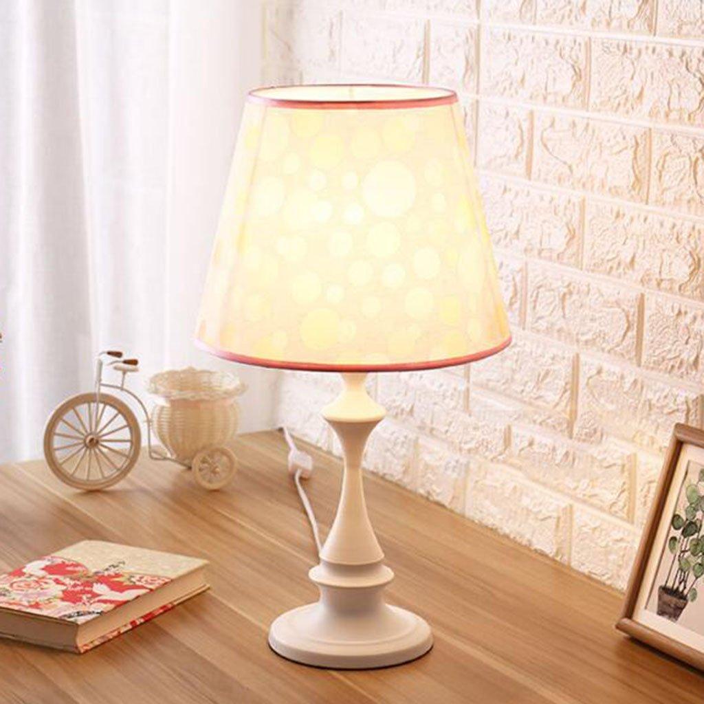 Le fu yan Simple Modern Table Lamp Bedroom Bedside Study Hotel Warm Creative Fashion Decorative Lights (Color : Off-white)