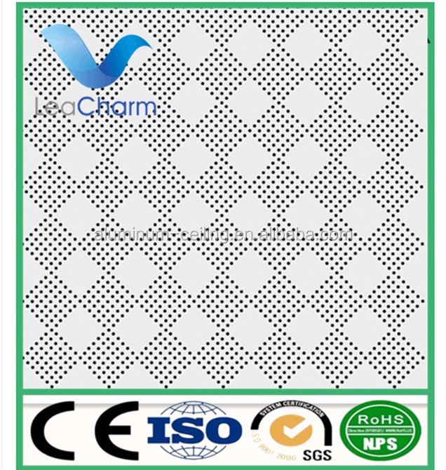 cheap price perforated aluminum ceiling tiles 300*600 lightweight ceiling panel 2x4