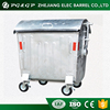 1.1 CBM Dome Lid Hot Dip Galvanized Moveable Metal Ash Bin
