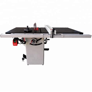 "35950G 10""Cast lron cabinet saw with riving knife 30"" rail & rail & fence system sliding table saw with scoring blade table saw"