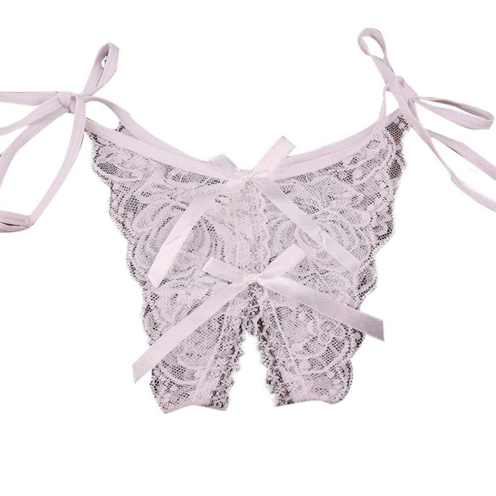 c67fbb77d96c Nacome Lace Panties for Women,Women's Thin Lace Hollowed-Out T-Back Low