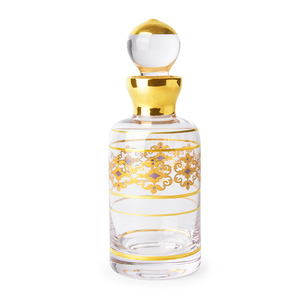 300ML Arabic Style Handmade Crystal Glass Real Gold Drawing Essential Oil Bottle