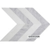 Premium honed 245x60mm Rhomboid Bianco Carrara White Mix Marble Floor Tiles