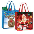Christmas Gift Non-woven Shopping Bag 2018 OEM Printed Environmental Christmas Party Gift Xmas Pp Non-woven Bag Shopping With Decorating