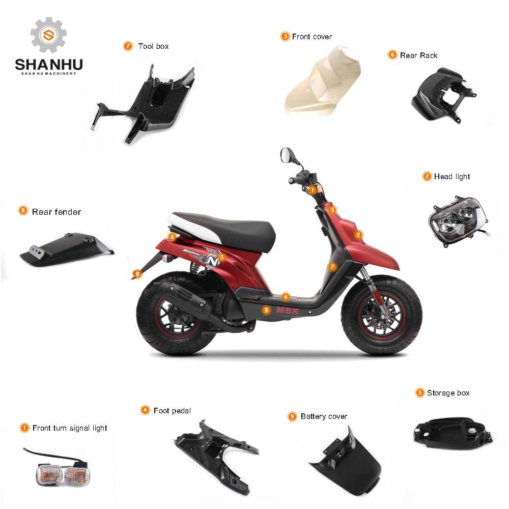 Wholesale custom denver used moped scooter motorcycle body parts for sale