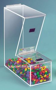 Topping Acrylic Cereal Dispenser with Magnetic Lid