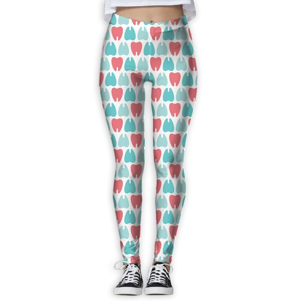6693eacc41ef0f Get Quotations · Ninena Chy Dentist Teeth Womens Casual Yoga Leggings  Patterned Workout Leggings Jogger Pants For Gym Home