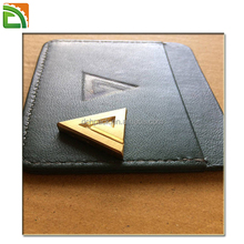 8mm Thick Personalized Leather Brass Metal custom notary stamp