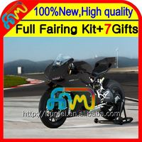 Body Fairing For DUCATI all flat black panigale 1199 1199S 12-13 11CL25 2012 2013 12 13 1199 1199S matte black Injection Kit