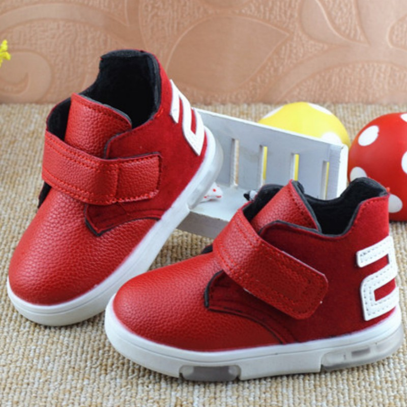 2015 autumn winter baby boys and girls casual Leather shoes in help soft bottom slip toddler