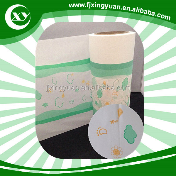 Indian market blue PE film manufacturer for baby and adult diaper making