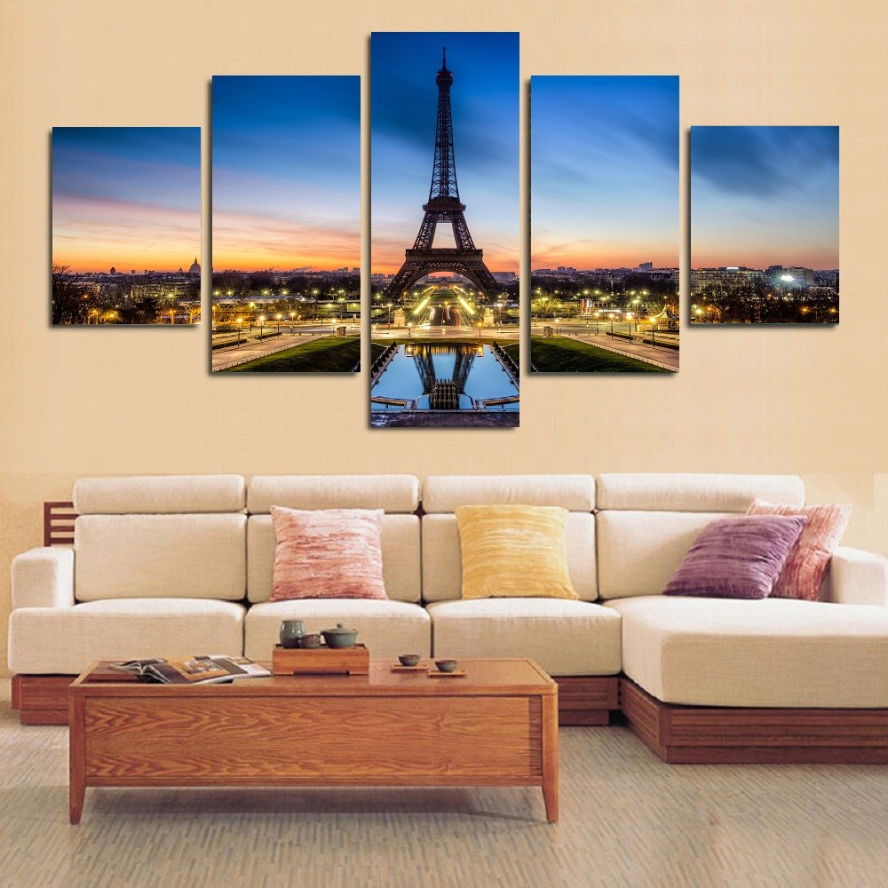 Admirable 5 Panels Elephant Painting Canvas Wall Art Picture Home Decoration Living Room Canvas Print Modern Painting Large Canvas Pz1015 Home Interior And Landscaping Palasignezvosmurscom