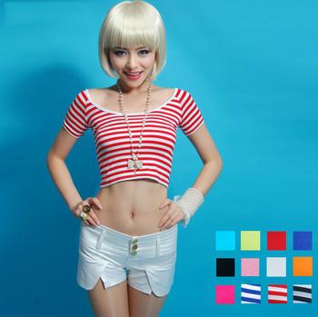 191901682326 wholesale camo women short sleeve korean style girls sexy off- shoulder  neck t shirt