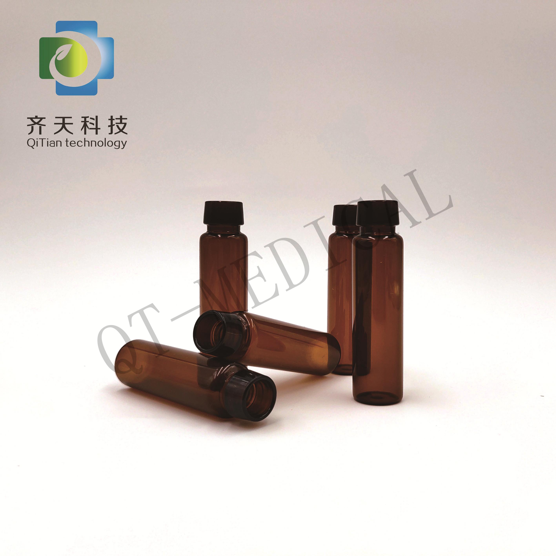 Claras e âmbar 5 ml 10 ml tubular frascos de vidro de injeção com tampa e rolha
