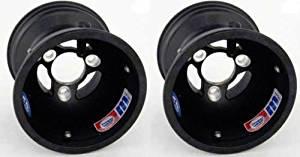 "Kart Racing Magnesium Wheels / Rims Douglas Hub Mount 5"" x 210mm Vented Pair"