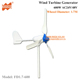 1.7M Wheel Diameter 600W 12V or 24V AC 3 Blades Three Phase Horizontal Axis Wind Turbine Generator for Home Use or Roof Windmill
