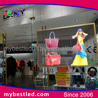 New transparent led display screen for outdoor and indoor advertising display function