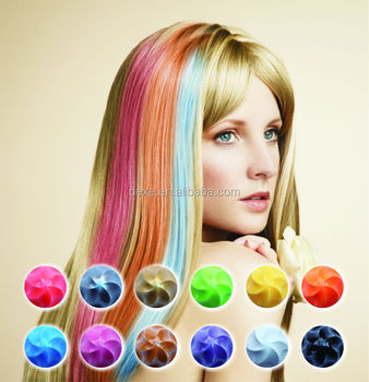 Dexe Hair Color Chalk,Instant Hair Coloring Rub Hair Dye Product ...