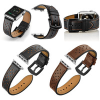 Fashion Style Dots Genuine Leather Straps Bands for Apple Watch