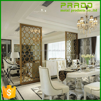 laser cut stainless steel metal decorative room divider