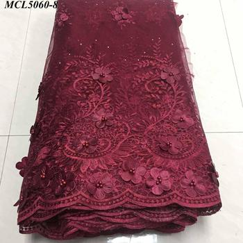 China Factory Seller 3d flower lace embroidered fabric printer guipure dress african fabrics bulk trim