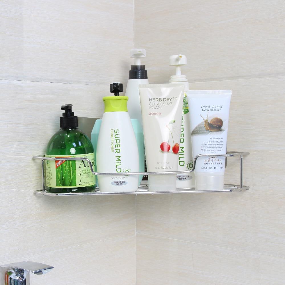 Adhesive Corner Shower Shelves,Plastic Shampoo Bottle In Bathroom ...