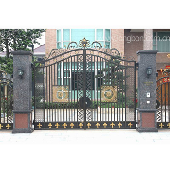 Wrought Iron Main Gate Designs For Homes In Galvanized Square Tubes
