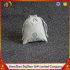 Customized Light Grey Jewelry Packaging Small Velvet Pouch