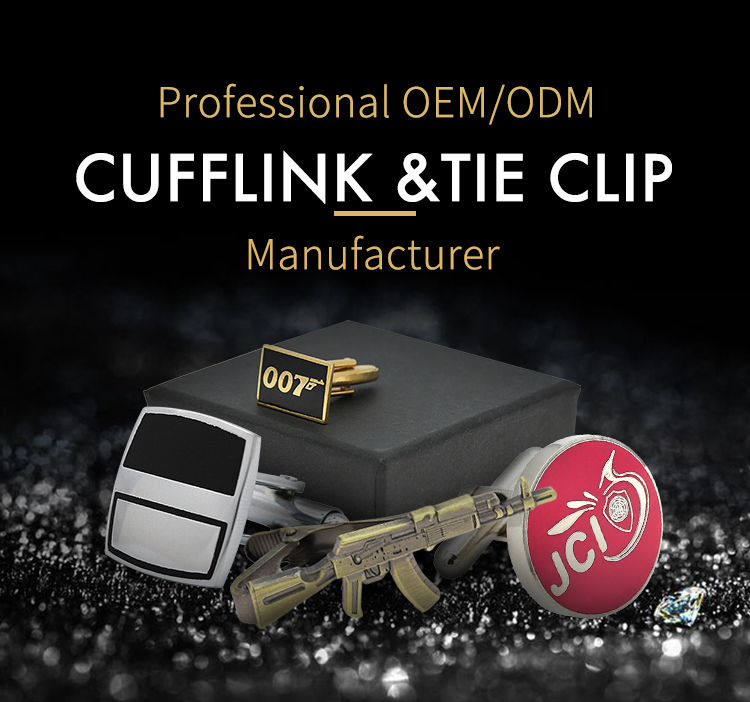 New products make custom brand name metal cufflinks manufacturer