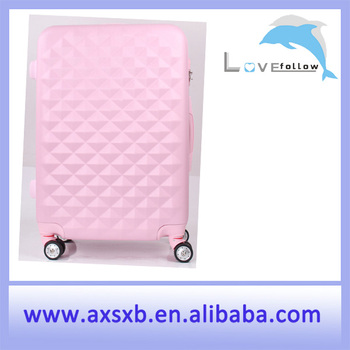 Light Pink Airplane Wheel Travel Trolley Luggage Set Spinner ...