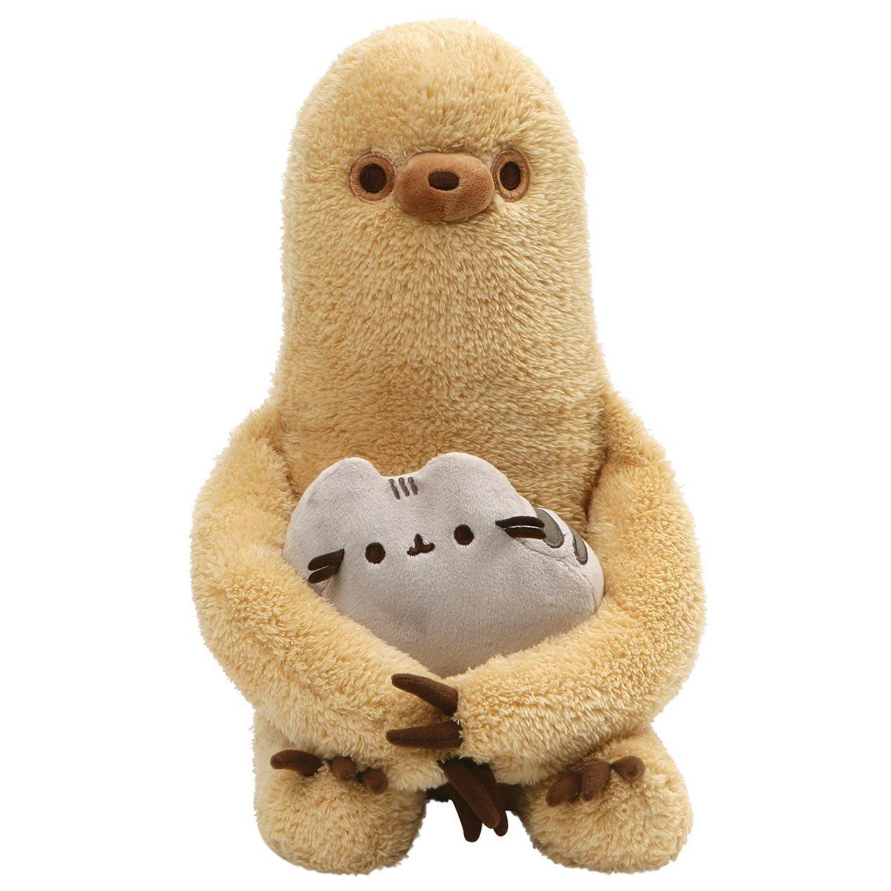 "GUND Pusheen with Sloth Plush Stuffed Animal, Set of 2, Multicolor, 13"""