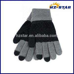 HZS-13250003 2018 new sport acrylic winter gloves mittens