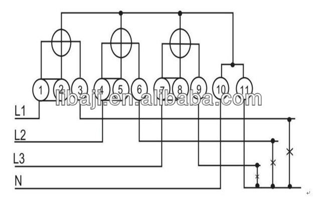 dt862 three phase four wire active electronics residential