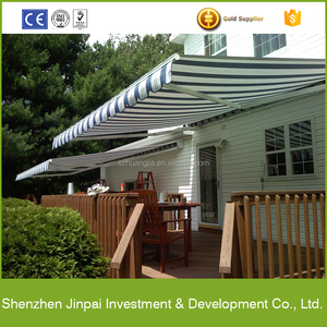 Motorized retractable used aluminum awnings for sale