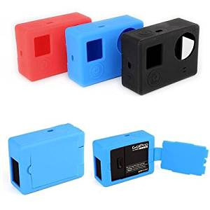 (Random Color) Soft Silicone Gel Rubber Protective Case Skin Cover For GoPro Hero 3 Plus 4 Camera / . Soft Silicone Gel Rubber Protective Case Skin Cover For GoPro Hero 3 Plus 4 Camera . . Co