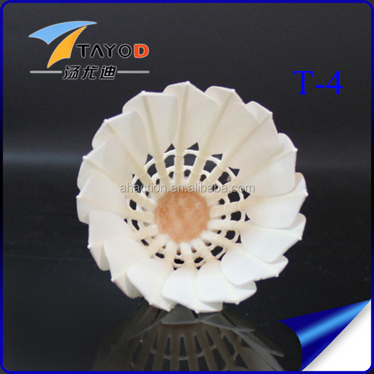 walmart wholesale sports goods china T-4 goose shuttlecock badminton