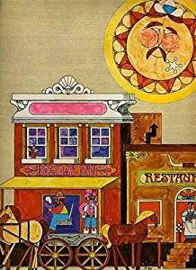 Holiday Inn Restaurant Menu Western Town Colorful Cover 1970's