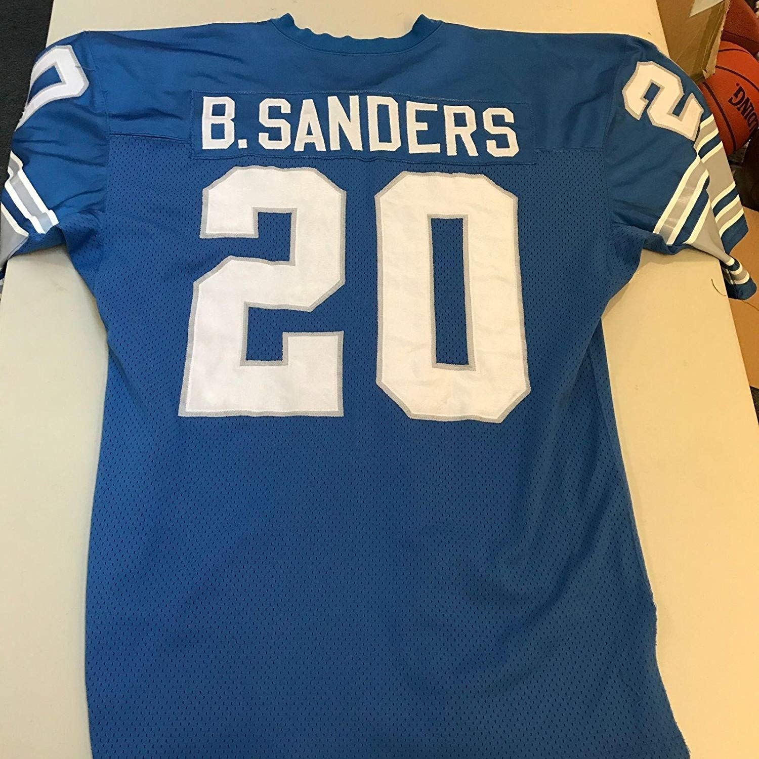 eba864fca90 Get Quotations · 1995 Barry Sanders Game Used Detroit Lions Home Jersey -  Unsigned NFL Game Used Jerseys