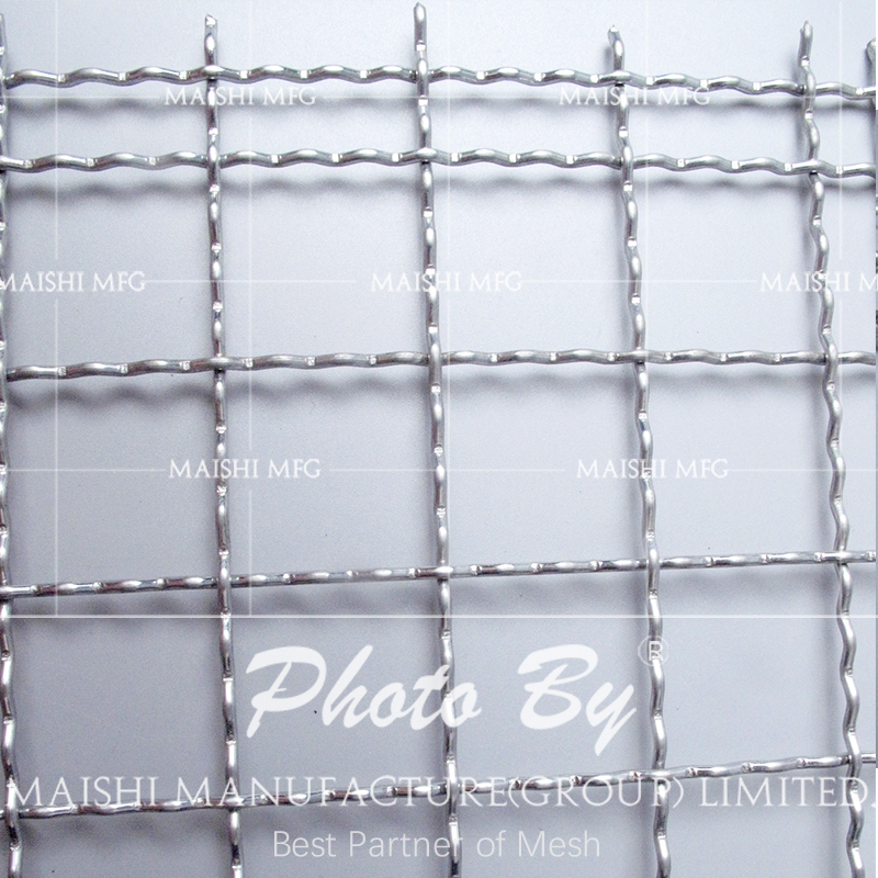 stainless steel woven crimped wire mesh for BBQ grill