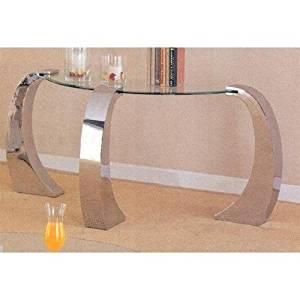 Unique Design Glass Top Occasional Sofa Console Table