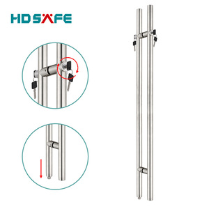 glass door ladder pull handle with locks