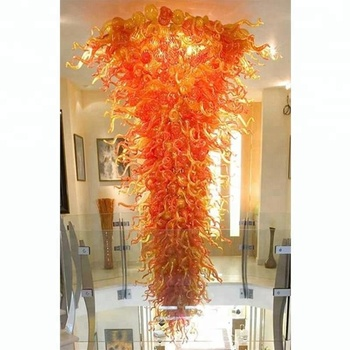Large Hotel Chandeliers Light Murano Glass Chihuly Style Chandeliers in Dubai